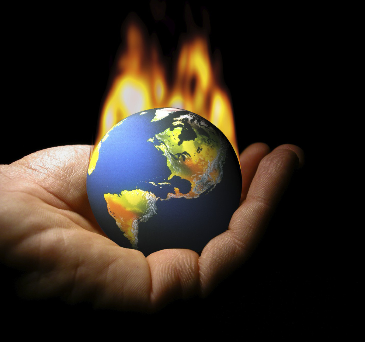 Scary World On Fire Climate Change In Public Domain